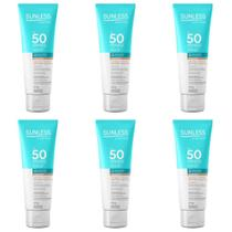 Sunless Fps50 Protetor Facial Base Bege Médio 60g (Kit C/06) -