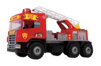 Super Caminhão Bombeiro C/ Capacete 72cm 5056c - Magic Toys -