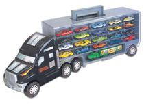 Super Caminhão Carreta Cegonha + 21 Carrinhos 1:64 Braskit -