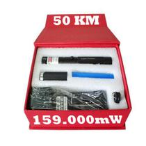 Super Caneta LASER point 159.000mW 50 km mais Forte verde Kit Estojo Luxo - Universal