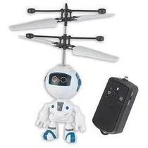 Super Flyer - Mini Robo Controle Remoto  Voa Com Sensor e luz - Braskit -