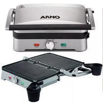 Super Grill Arno Premium Inox Com Placas Destacáveis 1200w -