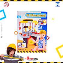 Super Kit Ferramentas p/ Oficina Infantil Com 54 Peças Bw033 Importway -