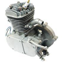 Super Kit Motor Bicicleta Motorizada Gasolina 80CC 2T 2 Tempos Completo Importway Barato Prata -