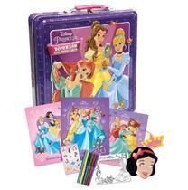 Super Kit Princesas Disney Linda Lata Estojo Edição Luxo!!! - Editora Dcl
