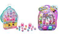 Super Kit Shopkins com 12 Festa Doce Brilhantes Glitter + Shopkins com 12 + 2 Mochilinhas Petkins - Dtc
