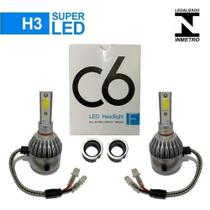 Super Led H3 12V Celta 2005 Farol Milha Kit com 2 -