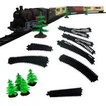 Super Locomotiva Luz/ Som 40 Pçs Trenzinho Ferrorama Braskit -