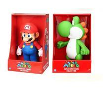 Super Mario e Yoshi - kit 2 bonecos grandes - Nintendo
