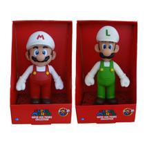 Super Mario Fire e Luigi Fire - kit 2 bonecos grandes - Super Size Figure Collection