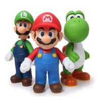 Super Mario, Luigi e Yoshi - kit com 3 bonecos grandes - Nintendo