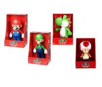 Super Mario, Luigi, Yoshi e Toad - kit 4 bonecos grandes - Nintendo