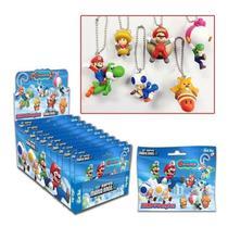 Super Marios Bros  U - Coleção 6 Chaveiros  Surpresas - Tomy
