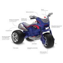 Super Moto Gt Turbo Eletrica 12V Azul- Bandeirante -