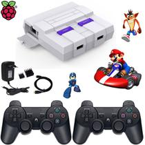 Super nintendo classic edition 7000 jogos - 2 controles ps3 - Retrogamespi