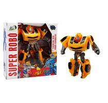 Super Robô Transforma em Carro Vip Toys Amarelo -