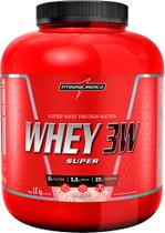 Super Whey 3w 1,8kg Whey Isolado Hidrolisado Concentrado - integralmedica - Chocolate