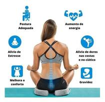 SUPERMEDY COCCIX Assento Viscoelastico Almofada Anatomica Ortopedica com Capa Protetora -