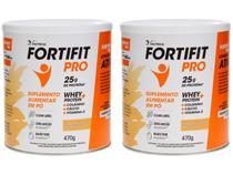 Suplemento Alimentar Fortifit Vitamina de Frutas - Pro Zero Açucar 470g 2 Unidades