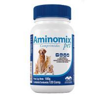 Suplemento Aminomix Pet Cães E Gatos C/120 Comprimidos - Vetnil