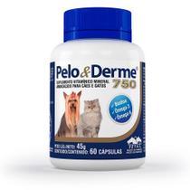 Suplemento - Pelo & Derme 750 Para Cães Vetnil - 60 Cápsulas -