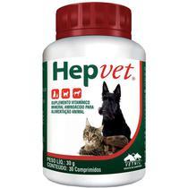 Suplemento Vetnil Hepvet Comprimidos - 30 g Contem 30 Cápsulas -