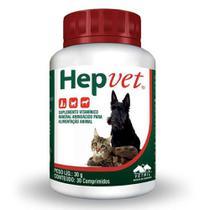 Suplemento Vetnil Hepvet Para Cães E Gatos 30 Comprimidos -