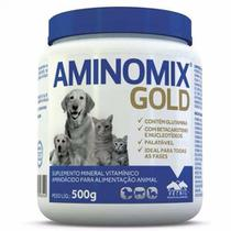 Suplemento Vitamínico Aminomix Gold em Pó - 500g - Vetnil