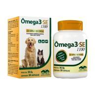 Suplemento Vitamínico Para Cães E Gatos Ômega 3+Se 1100 Vetnil - 59g - 30 Capsulas -