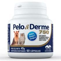 Suplemento Vitaminico Pelo Derme 750 (45g/60 Capsulas) - Vetnil -