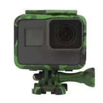 Suporte Armação Moldura Frame Camuflado Verde GoPro Hero 5/6/7 - Shoot