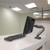"""Suporte articulado de mesa com pistao a gas para monitor de 17"""" a 27"""" - f80n - Elg Soluções Inteligentes"""
