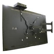 """Suporte Articulado para TV LED, LCD, Plasma, 3D, Smart e Curva de 23 a 55"""" - CS0040A + Prateleira para conversor - C.S"""