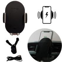 Suporte Automotivo Carro Para Celular Com Carregador Wireless Indução IT Blue -