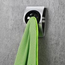 Suporte Banheiro Parede Toalha Panos Em Aço Inox Sem Furos - Clink