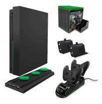 Suporte Base Cooler Para xbox one X Carregador mais 2 bateria para controle Marca Oivo -