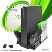 Suporte Base Vertical 4 em 1 Xbox One c/ Cooler e Led de Carregamento - Feir