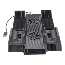 Suporte Base Vertical 4 em 1 Xbox One Com Cooler e Led FR-398 - Feir