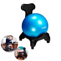 Suporte Cadeira com Rodinhas + Bola 65cm de Pilates  Liveup -
