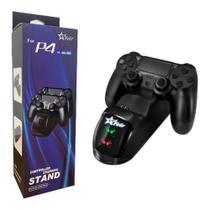 Suporte Carregador Base Para 2 Controles PS 4 Slim Pro Controller Charging Stand - Feir
