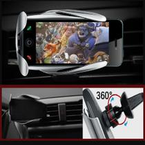Suporte Carregador Induçao Sensor QI Universal Automatico Celular Veicular Carro Wireless - Ideal