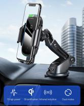 Suporte Carregador Veicular Indução Wireless 15W Fast Charger Carro Baseus Gravity Iredescente Qi -