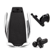 Suporte Carregador Veicular Qi Smart Sensor Wireless Charger S5 Indução - Haiz