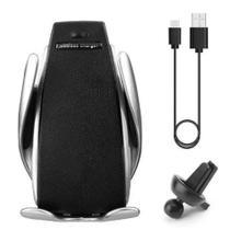 Suporte Carregador Veicular Qi Smart Sensor Wireless Charger S5 Indução - Vtronics
