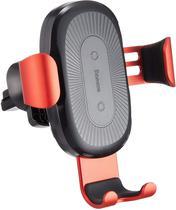 Suporte Carregador Veicular Sem Fio Wireless QI Indução 10W Fast Charger Baseus, Baseus, WXYL-09, Vermelho -