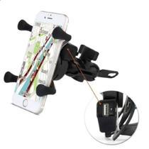 Suporte Celular Carregador Fixação por Garra e Porta USB - Xls -
