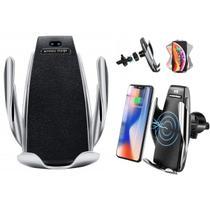 Suporte celular carregador veicular wireless sem fio para carro smartphone qi fast charge iphone 8 x - Makeda
