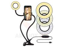 Suporte Celular De Mesa Luminária Ring Light Led Selfie - Artbox3D