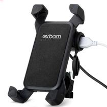 Suporte Celular Exbom com Carregador Usb SP-CA54 Moto 4.5 A 7.5 PO -