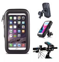 """Suporte Celular Smartphone Bike Bicicleta e Moto até 6.3"""" Polegadas Impermeável com zíper (IP7) - Exbom"""